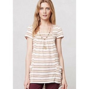 Anthropologie Meadow Rue Striped Marin Tunic Top